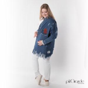 Płaszcz jeansowy Plus Size [XXL]