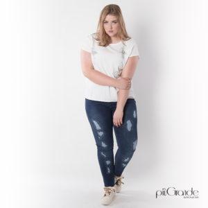 Spodnie jeansowe Plus Size [XXL]
