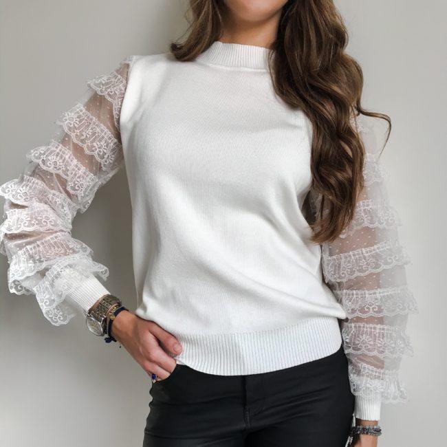 Koszula skórzana z bufkami czarna| Butik z modą PiuGrande