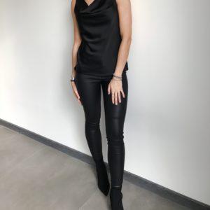 Bluzka w kratę z odsłoniętymi plecami| Butik z modą PiuGrande