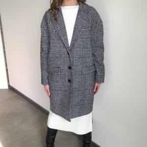 Płaszcz w pepitkę| Butik z modą PiuGrande
