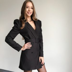 Sukienka marynarkowa czarna| Butik z modą PiuGrande