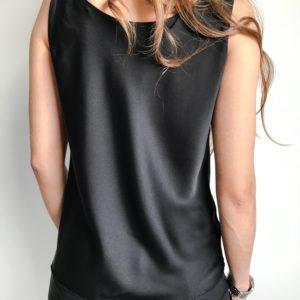 Bluzka VELVET czarna  Butik z modą PiuGrande