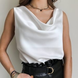 Bluzka VELVET ecru| Butik z modą PiuGrande